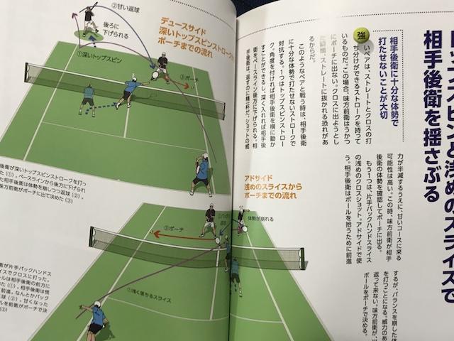 テニス・ダブルス ポジショニングの基本と実践_P126,127